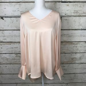 The Limited Open Arm Blush Silky Pop Over Top XL